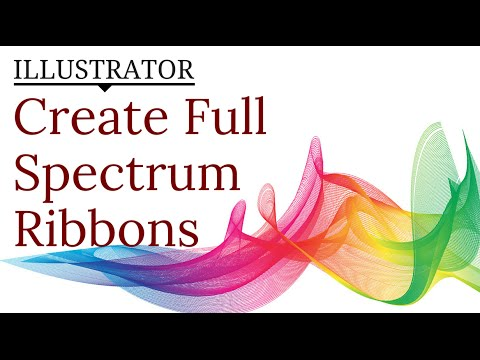 Create A Rainbow Ribbon Effect In Illustrator Use Lines Blends For Abstract Shapes