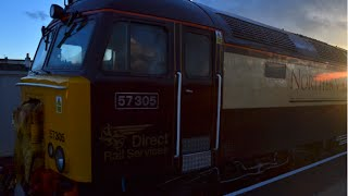 #447: Northern Belle Class 57305 & 57312 passes Abergele and Pensarn (04/11/14)
