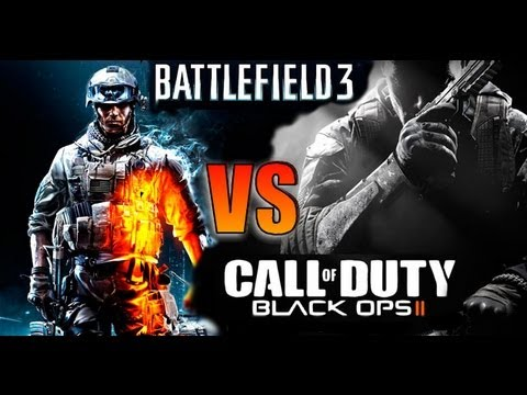Call of Duty Black Ops 2 Gun Sounds vs Battlefield 3