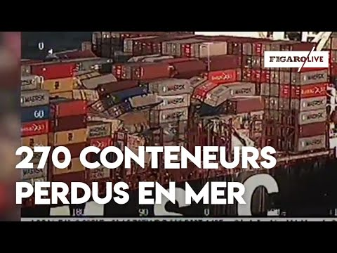 En mer du Nord, un navire perd 270 conteneurs