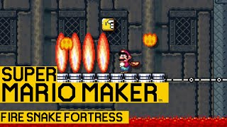 Fire Snake Fortress - Super Mario Maker