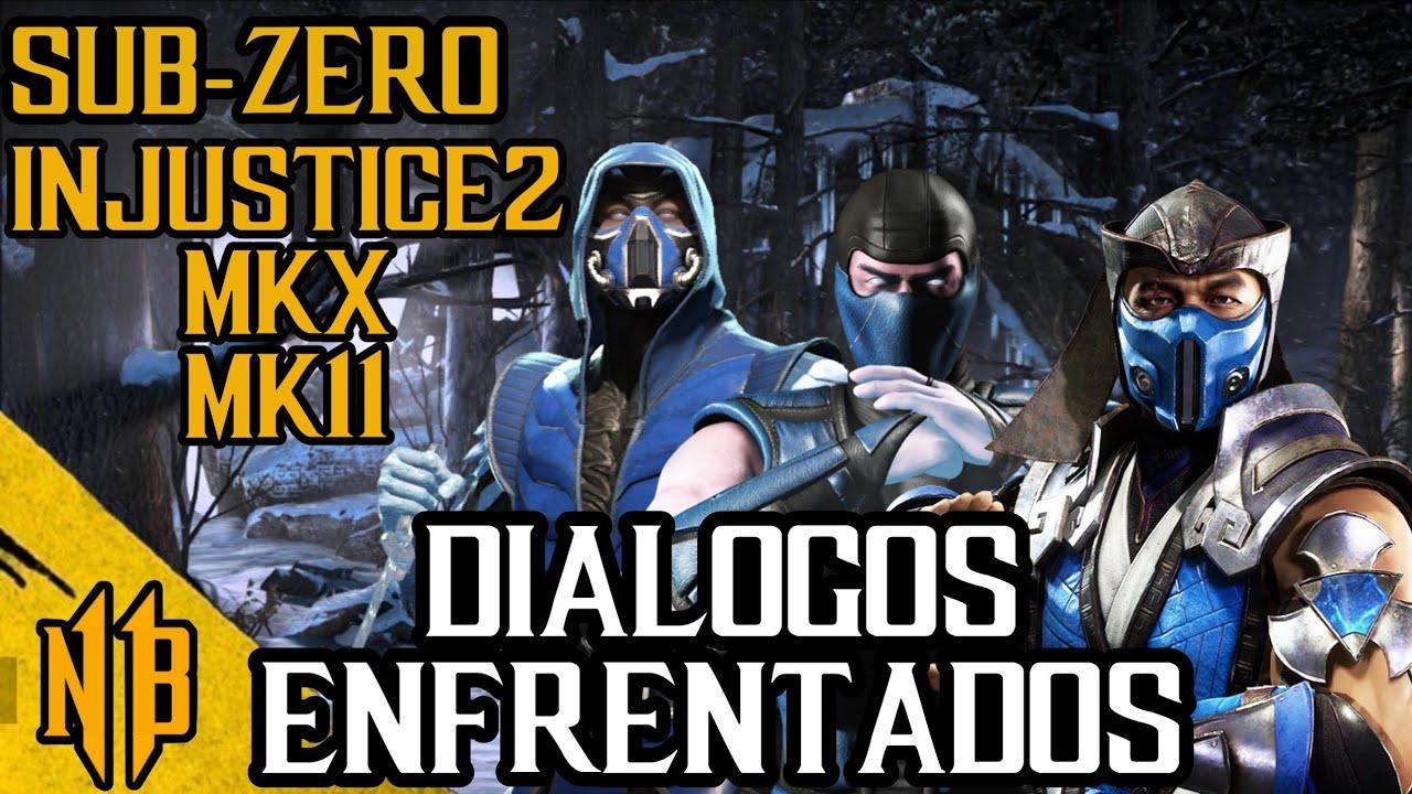 🥶Mortal Kombat 11- Injustice 2  y MKX - Sub-Zero - Dialogos Enfrentados- Español Latino