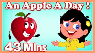 An Apple A Day Rhyme | Plus Lots More Kids Nursery Rhymes| 43 Minutes Compilation from Magicbox