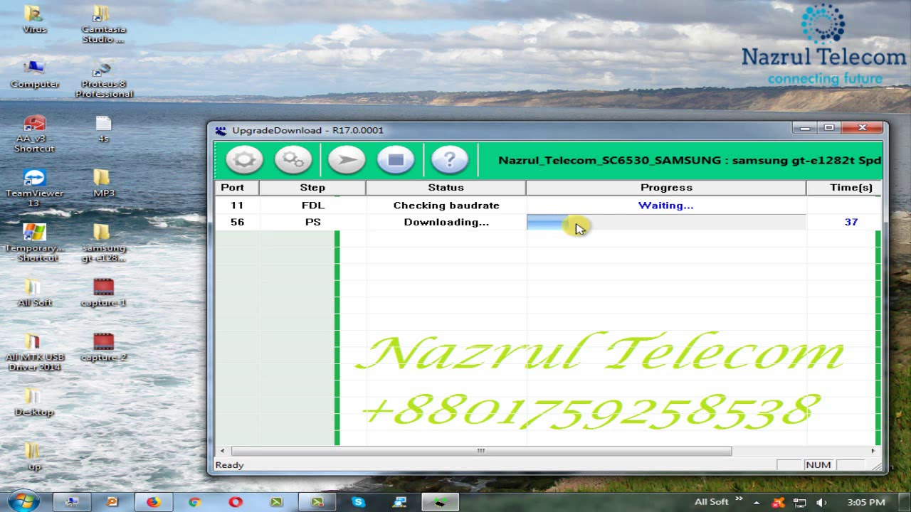 Samsung GT-E1282T SPD 6530 Flash Write Done Without Box by Nazrul Telecom