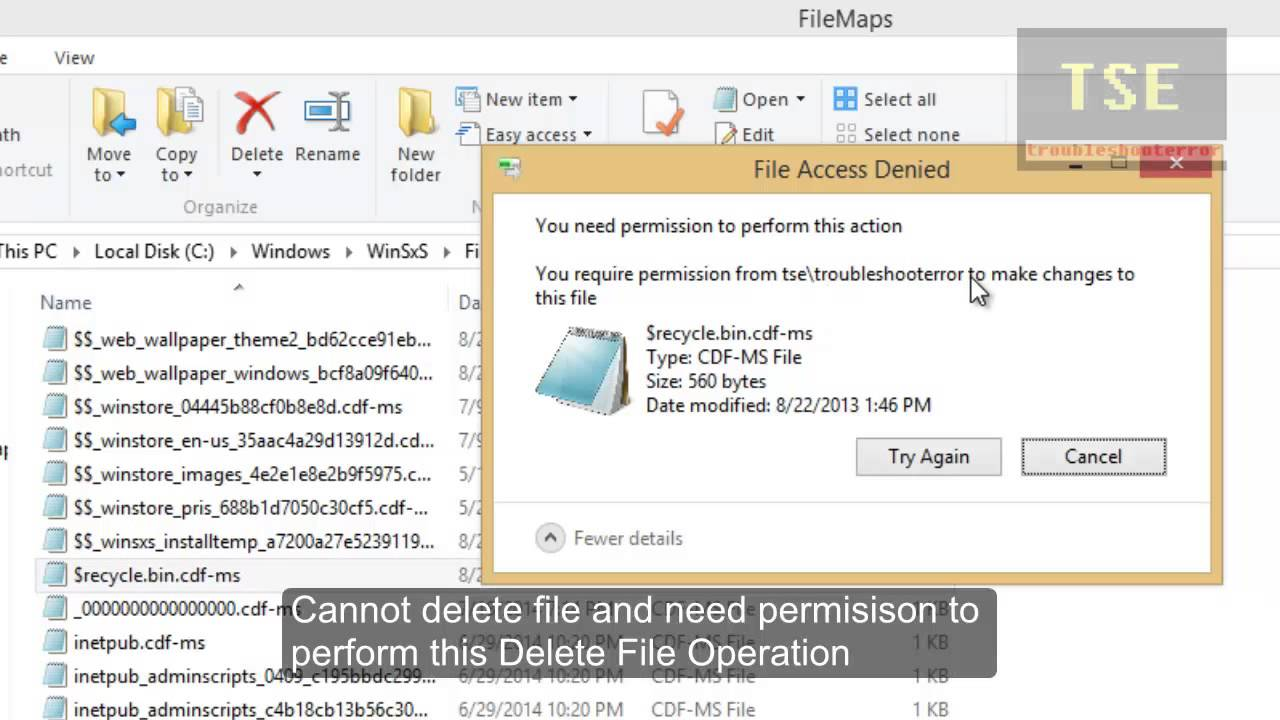 How to fix File Access Denied error in Windows 8 1 when deleting file