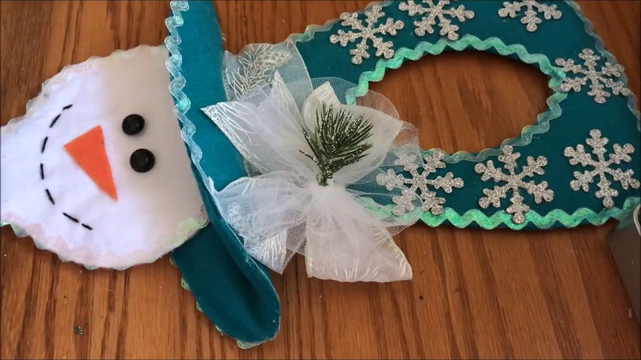 Decoracion navide as para la puerta picaporte youtube - Adornos navidenos para puertas ...