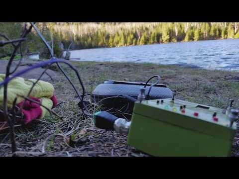 """KD1JV's CW Transceiver """"MTR5B"""" on Minnesota's Clearwater Lake"""