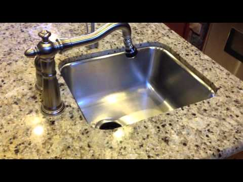 sink replacement in a granite top - youtube