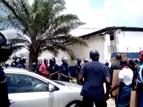 Police Use Pepper Spray on Schlumberger Ghana Staff
