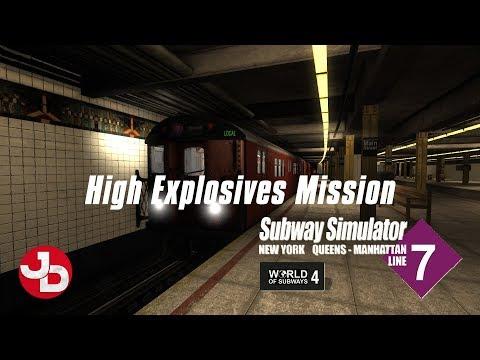 World of Subways 4 - New York Subway Line 7 | High Explosives Mission |