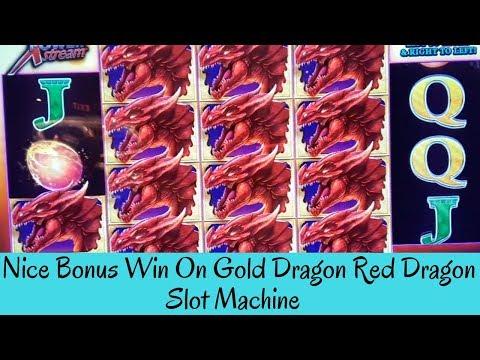 NICE BONUS WIN ON GOLD DRAGON RED DRAGON SLOT MACHINE - SunFlower Slots