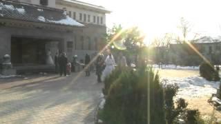 Свадьба эпизод прогулка зима