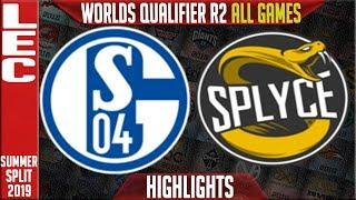 S04 vs SPY Highlights ALL GAMES | LEC Summer 2019 Worlds Qualifier R2 | Schalke 04 vs Splyce