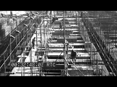 WW2 Testing Of Breakwaters & Concrete Barges, Portsmouth, England, 3/17/1944 (full)