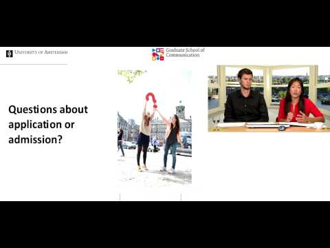 Webinar Studying Communication Science at the UvA