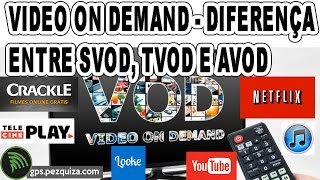 VIDEO ON DEMAND - Diferença entre SVOD, TVOD e AVOD