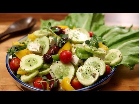 Greek Salad   Healthy & Nutritious Salad  Recipe   Divine Taste With Anushruti