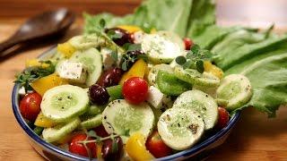 Greek Salad | Healthy & Nutritious Salad  Recipe | Divine Taste With Anushruti