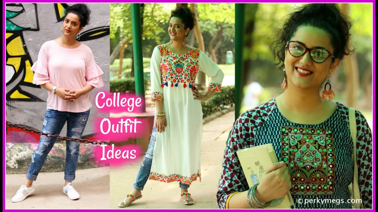 College Outfit Ideas | Ethnic and Western Indian College Lookbook | Perkymegs  sc 1 st  YouTube & College Outfit Ideas | Ethnic and Western Indian College Lookbook ...