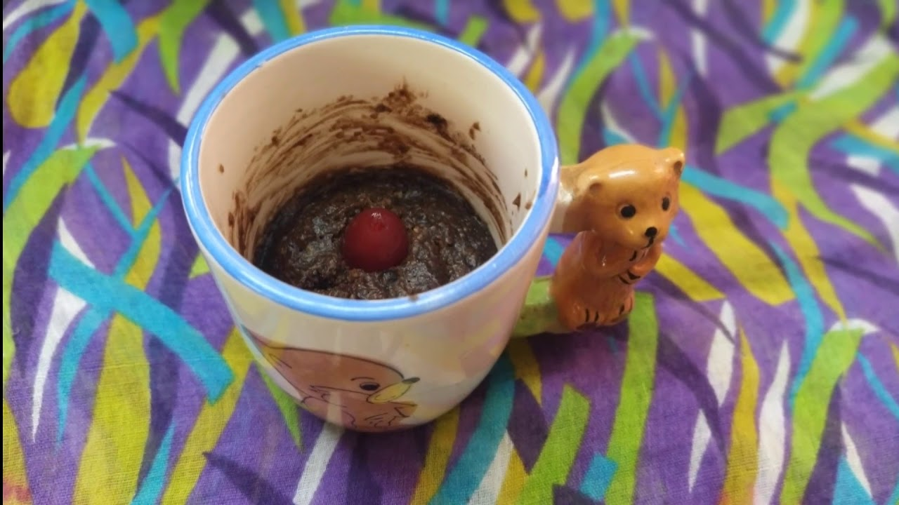 Eggless oats chocolate mug cake without oven in tamil ...
