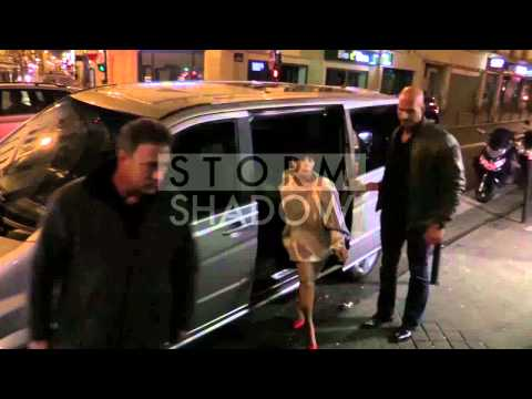 Lady Gaga VERY ELEGANT in Paris by night