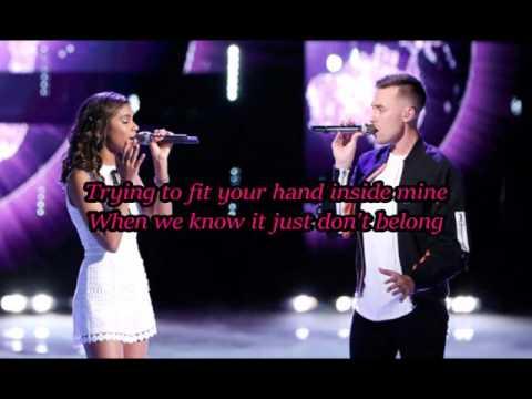 Aliyah Moulden & Hunter Plake - Let It Go (The Voice Performance) - Lyrics