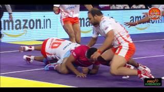 Top tackles by Ravinder Pahal in Pro Kabaddi League Season 4