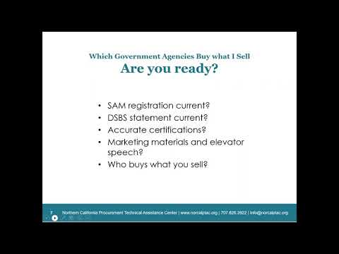 Which Government Agencies Buy What I Sell? - Webinar