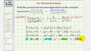 Ex: Partial Fraction Decomposition - Degree 2 / Degree 3