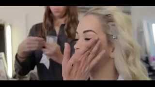 Rita Ora behind the scenes for Rimmel