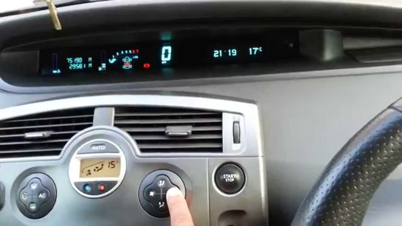 For Central Air Fuse Box Heater Fan Blower Resistor Renault Grand Scenic Youtube