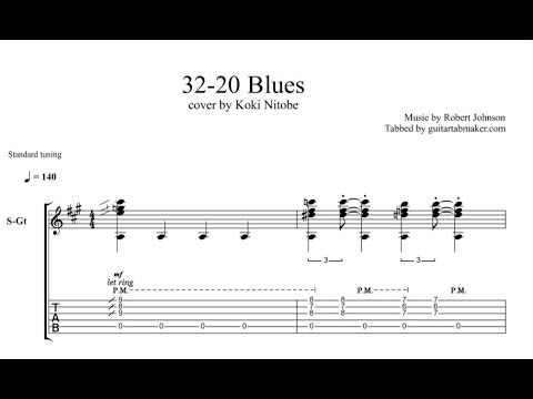 32 20 Blues TAB  acoustic fingerstyle guitar tab  PDF  Guitar Pro
