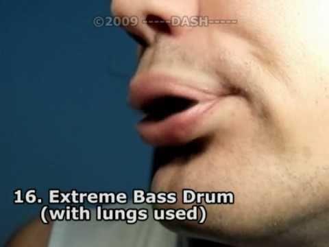 Slow-motion Beatbox Techniques 300 fps!