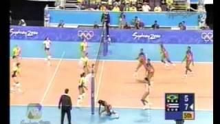 BRASIL VS CUBA SIDNEY 2000 - SEMIFINAL VOLEY (5 set)