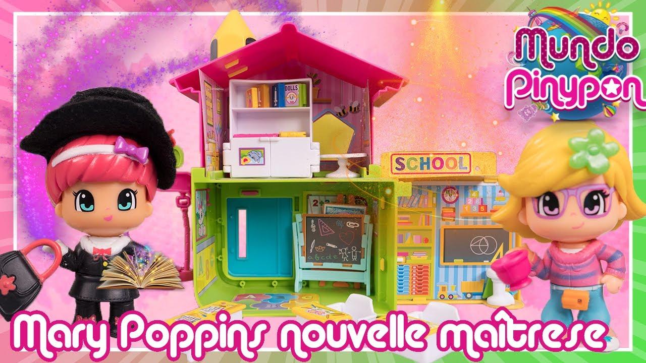 MARY POPPINS est la nouvelle maîtrese de l'école Pinypon✨💻 Magie pendant les cours en ligne!