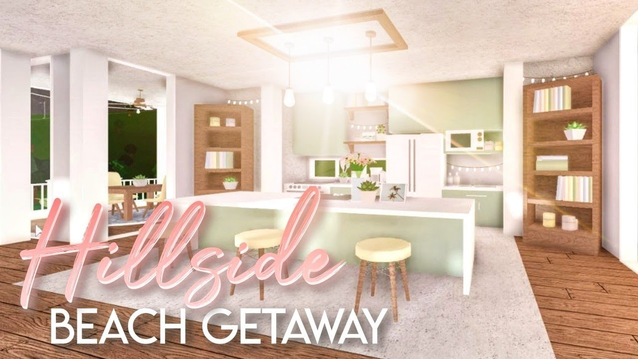 Bloxburg Hillside Beach Getaway House Build Youtube