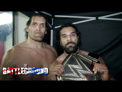 With The Great Khali at his side, Jinder Mahal recalls his hard-fought victory: July 23, 2017