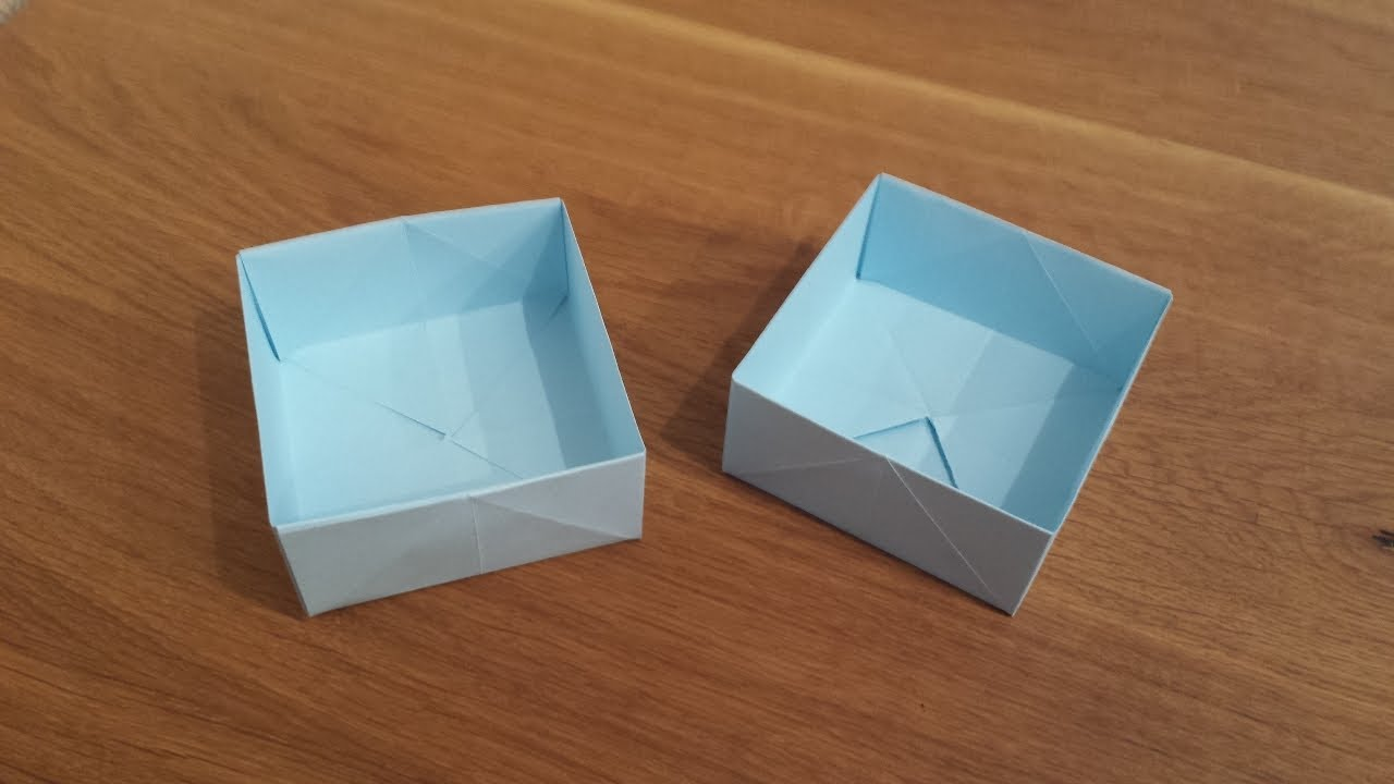How To Make A Paper Box Origami Youtube