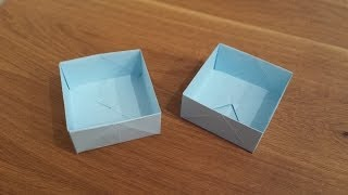 How To Make a Paper Box - Origami