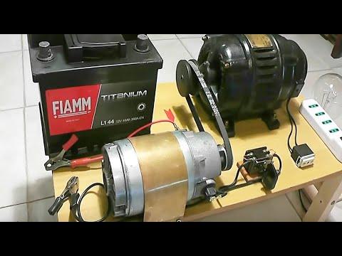 Alternator 220V & Motor generator 12V charging system