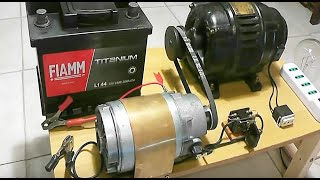 Alternator 220V & Motor 12V charging system thumbnail