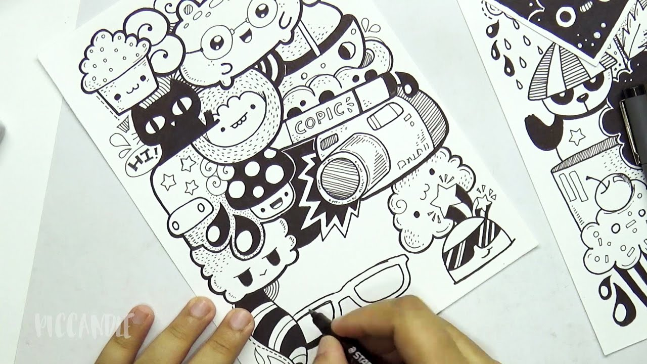 Cute Doodle Card - YouTube