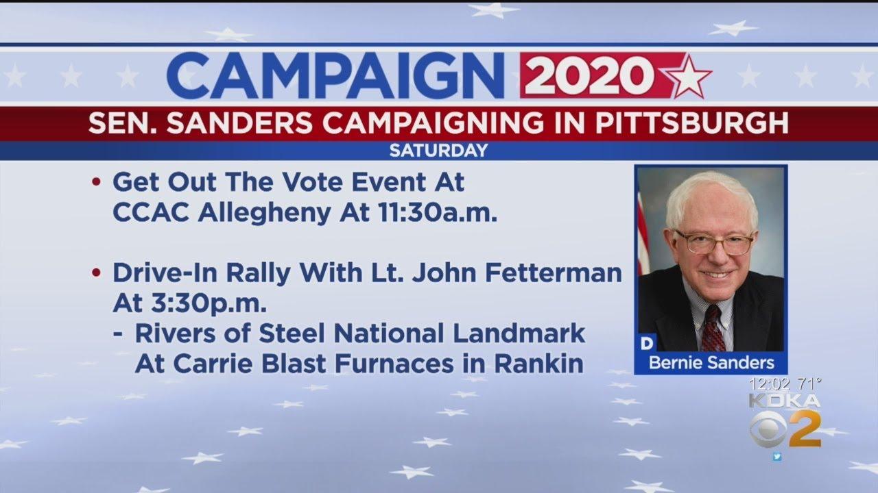 Sen. Bernie Sanders To Hold Rally For Joe Biden In Pittsburgh