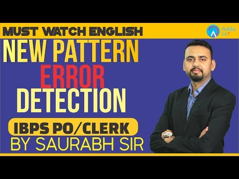 IBPS PO/CLERK | New Pattern Error Detection | Saurabh Sir | 4:30 P.M.
