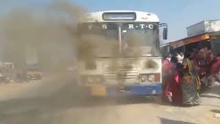 Banswada to Hyderabad bus fire accident