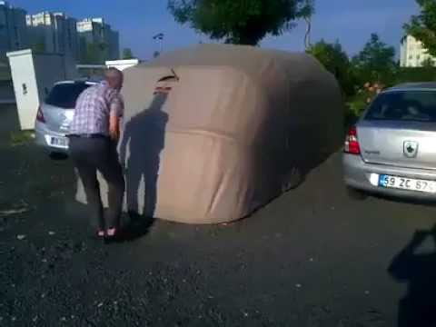 Amazing portable indoor parking - YouTube