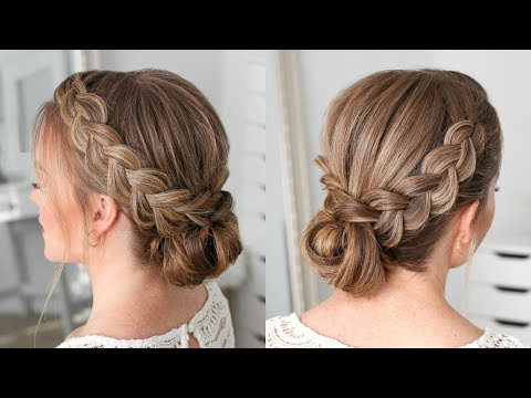 Double Dutch Braids Updo