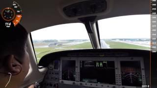 Eclipse 500 Jet - Seletar Airport Landing