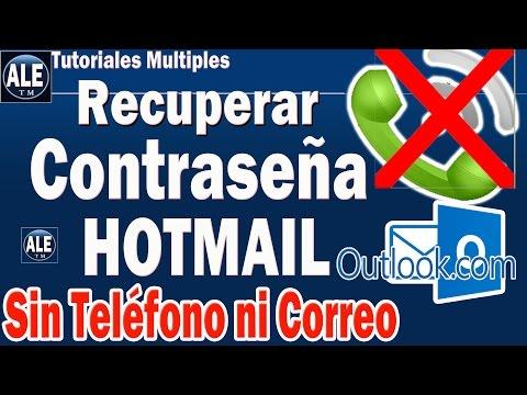 Como Recuperar Contraseña De Hotmail o Outlook, Sin Numero de Telefono ni Correo Electrónico