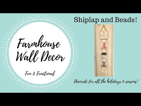 DIY Farmhouse Fun & Functional Wall Decor  |  All Holiday Decorating